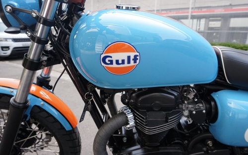 Kawasaki W800 Gulf Umbau