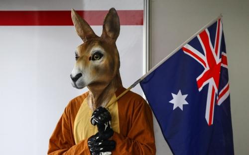 Känguru Maskottchen von Cudlin's Convict Club