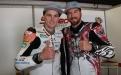 Teamkollegen Alex Phillis und Damian Cudlin