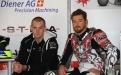 Teamkollegen, Alex Phillis und Damian Cudlin